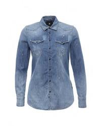 Женская синяя джинсовая рубашка от G Star
