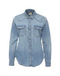 Женская синяя джинсовая рубашка от Gap