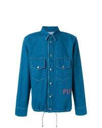 Мужская синяя джинсовая рубашка от Golden Goose Deluxe Brand