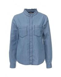 Женская синяя джинсовая рубашка от Ichi