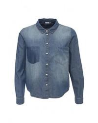 Женская синяя джинсовая рубашка от Jacqueline De Yong