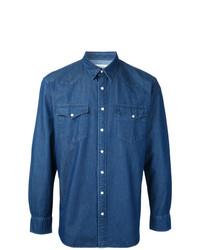 Мужская синяя джинсовая рубашка от Kent & Curwen