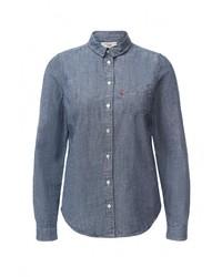 Женская синяя джинсовая рубашка от Levi's