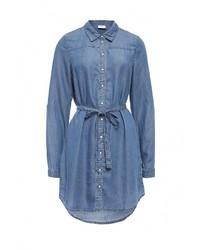 Женская синяя джинсовая рубашка от Mamalicious