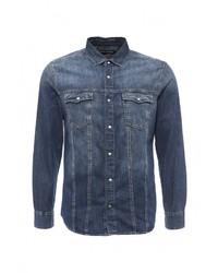 Мужская синяя джинсовая рубашка от Mavi