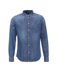 Мужская синяя джинсовая рубашка от Pepe Jeans