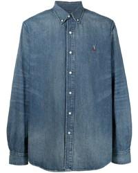 Мужская синяя джинсовая рубашка от Polo Ralph Lauren
