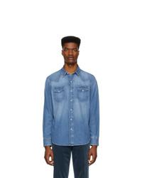 Мужская синяя джинсовая рубашка от Ralph Lauren Purple Label