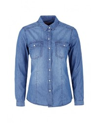 Женская синяя джинсовая рубашка от s.Oliver