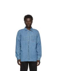 Мужская синяя джинсовая рубашка от Saturdays Nyc