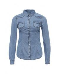 Женская синяя джинсовая рубашка от SPRINGFIELD