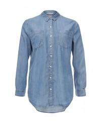Женская синяя джинсовая рубашка от Tommy Hilfiger Denim