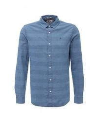 Мужская синяя джинсовая рубашка от Tommy Hilfiger Denim