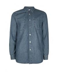 Мужская синяя джинсовая рубашка от Topman
