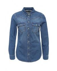 Женская синяя джинсовая рубашка от Topshop