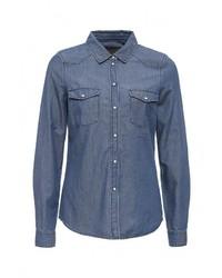 Женская синяя джинсовая рубашка от Vero Moda