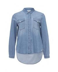 Женская синяя джинсовая рубашка от Volcom