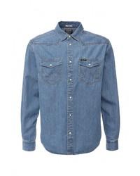 Мужская синяя джинсовая рубашка от Wrangler