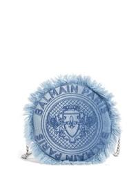 Синяя джинсовая сумка через плечо
