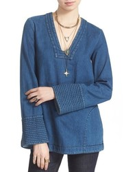 Синяя джинсовая туника