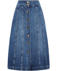 Женская синяя джинсовая юбка на пуговицах от Frame