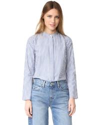 Женская синяя классическая рубашка в вертикальную полоску от Madewell