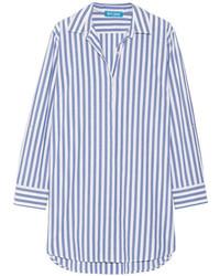 Женская синяя классическая рубашка в вертикальную полоску от MiH Jeans