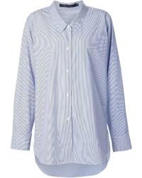 Женская синяя классическая рубашка в вертикальную полоску от Sofie D'hoore