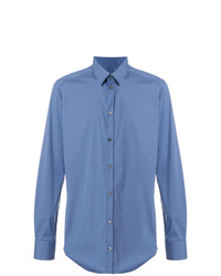 Мужская синяя классическая рубашка от Bagutta
