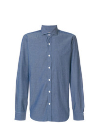 Мужская синяя классическая рубашка от Barba