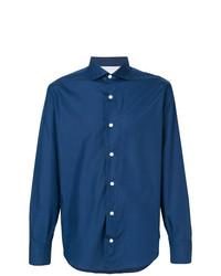 Мужская синяя классическая рубашка от Eleventy