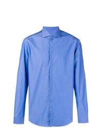 Мужская синяя классическая рубашка от Emporio Armani