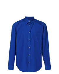 Мужская синяя классическая рубашка от Maison Margiela
