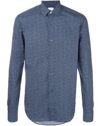 Мужская синяя классическая рубашка от Paul Smith
