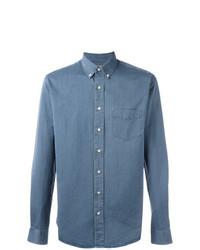 Мужская синяя классическая рубашка от Schnaydermans