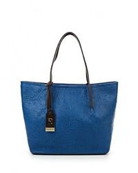 Женская синяя кожаная большая сумка от Eleganzza