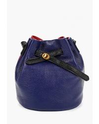 Синяя кожаная сумка-мешок от Cheribags