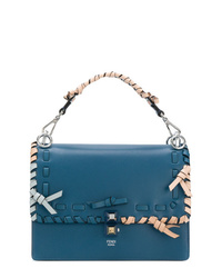 Синяя кожаная сумка-саквояж от Fendi