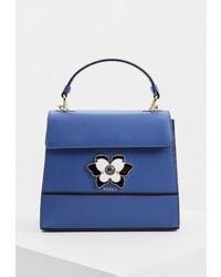 Синяя кожаная сумка-саквояж от Furla