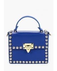 Синяя кожаная сумка-саквояж от Ors Oro