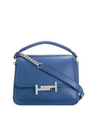 Синяя кожаная сумка-саквояж от Tod's