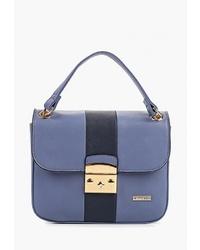 Синяя кожаная сумка-саквояж от Wittchen