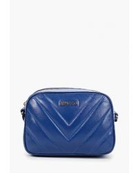 Синяя кожаная сумка через плечо от Alessandro Birutti