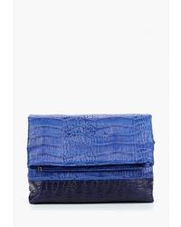 Синяя кожаная сумка через плечо от Antan