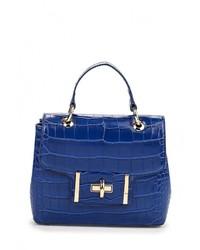 Синяя кожаная сумка через плечо от Calipso