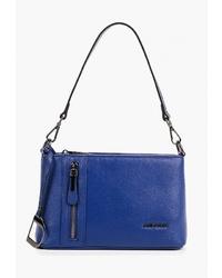 Синяя кожаная сумка через плечо от Dino Ricci