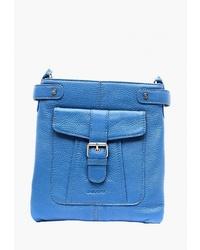 Синяя кожаная сумка через плечо от Duffy