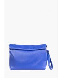 Синяя кожаная сумка через плечо от Kokosina