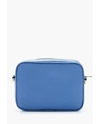 Синяя кожаная сумка через плечо от Laleas