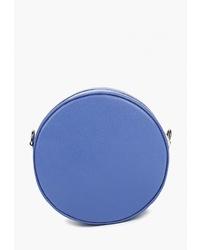 Синяя кожаная сумка через плечо от LAMANIA